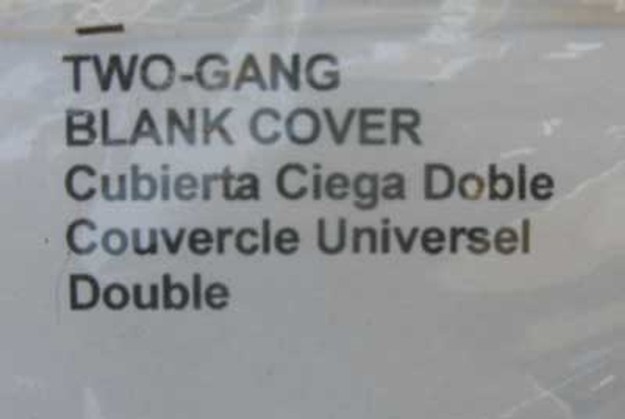 Hubbell 5175-0 Two Gang Blank Cover Gray (Lot of 2)