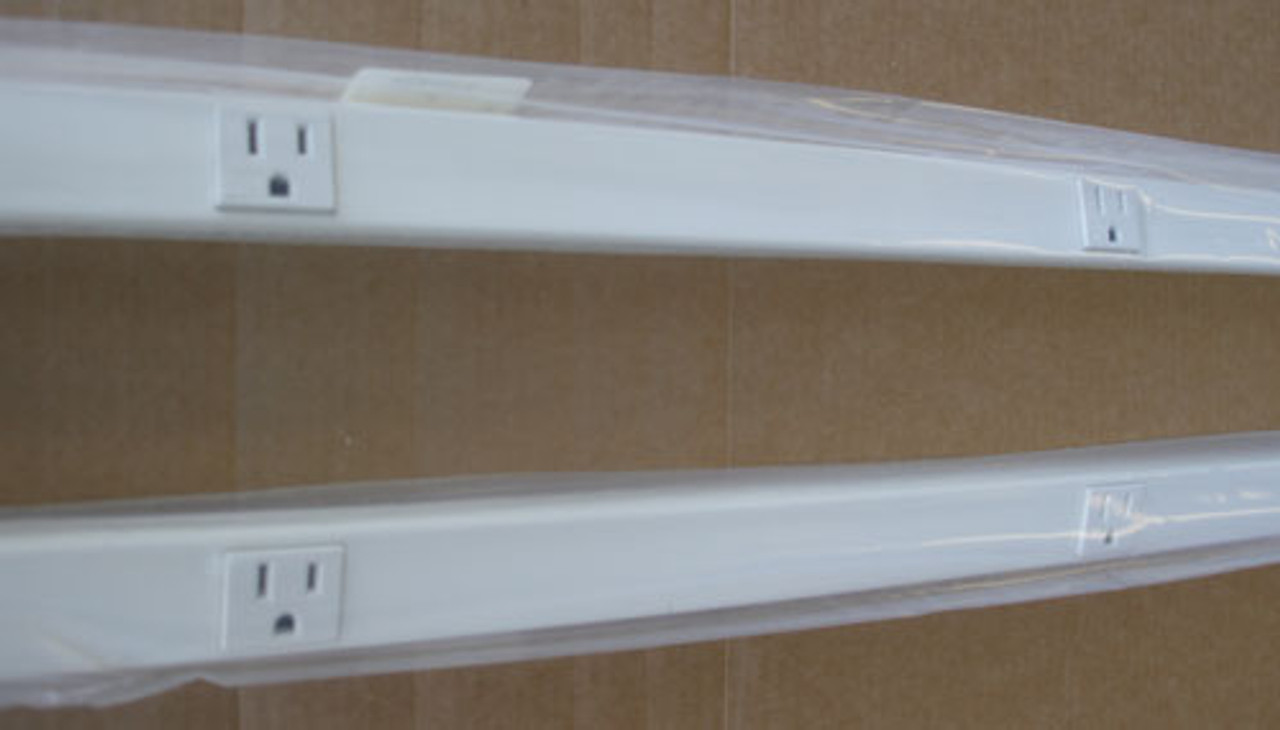 Hubbell HBL20GB606IV 6ft. 1-Circuit 15A 12 Rec Metal PlugTrak in Ivory (Lot of 2)