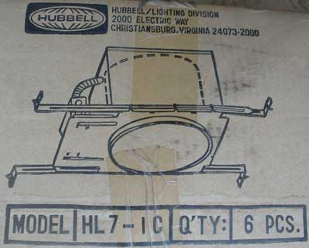 "Hubbell HL7-1C 7""  Universal New Construction Housing Lighting - New"
