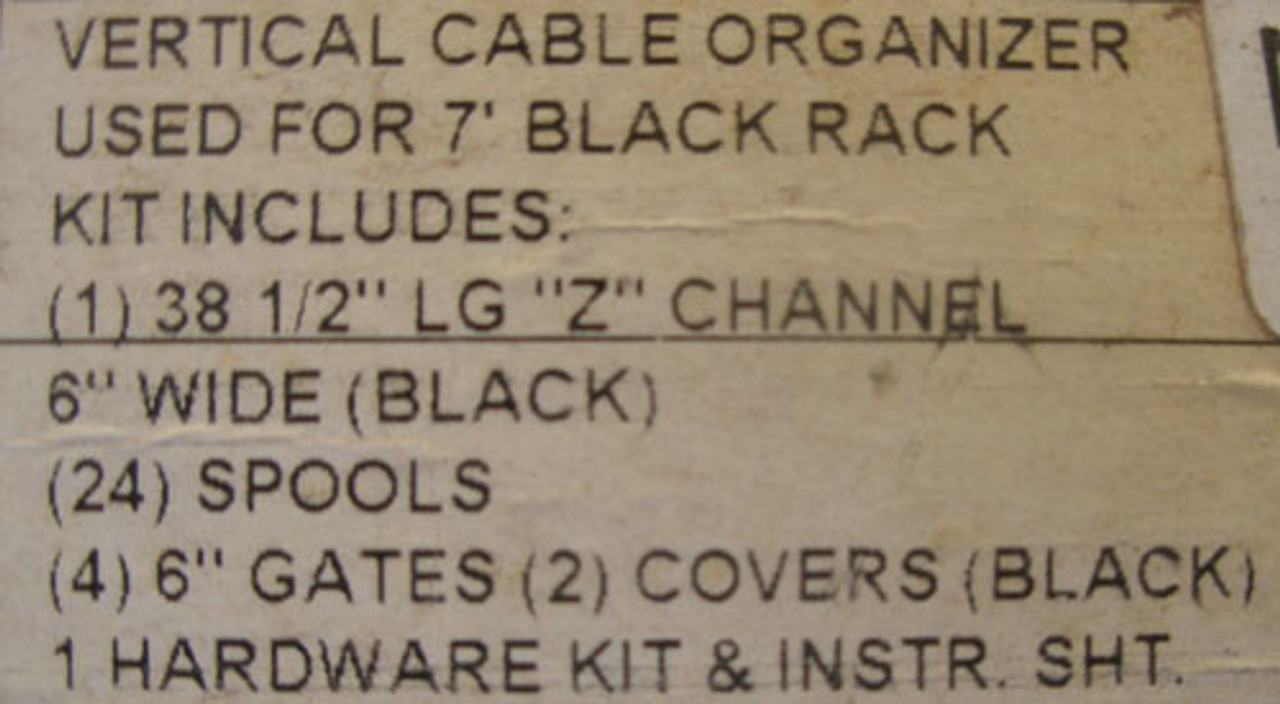 Hubbell VC76 84-IN Verticle Cable Organizer Kit in Black