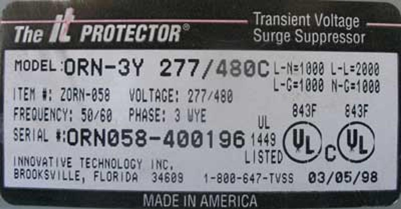 IT ORN-3Y Orion Transient Voltage Surge Suppressor 3PH 277V/480C