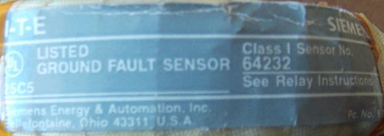 ITE 64232 Ground Fault Sensor Class 1 - Used