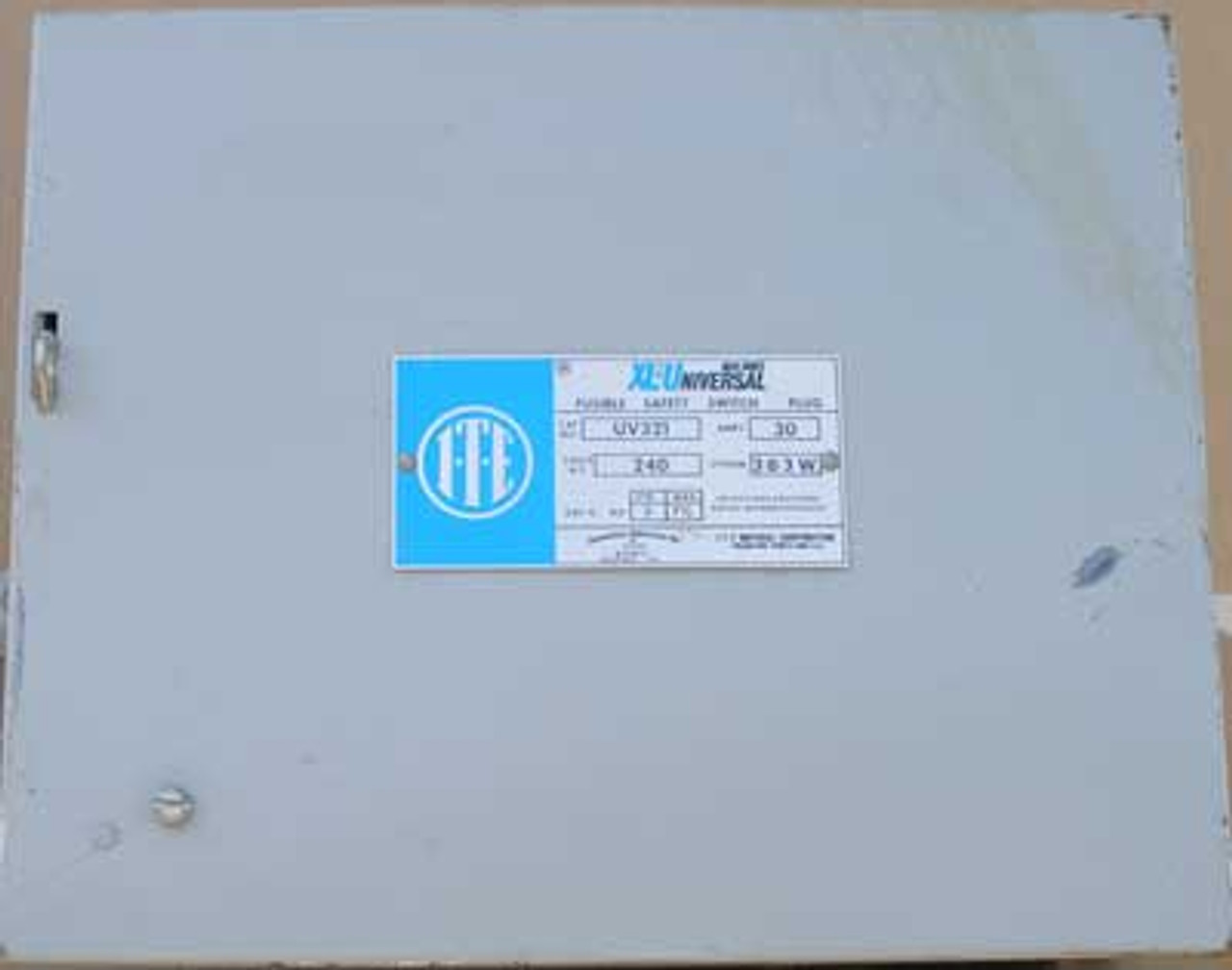 ITE Gould UV 321 Fusible Busduct Switch 30A 240V 3P 3W - Used