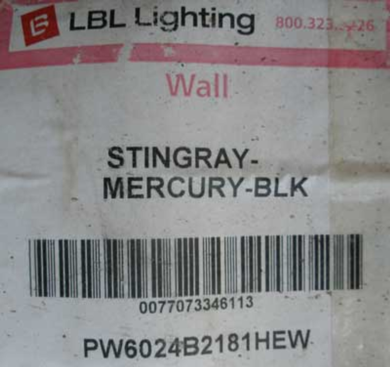 LBL Lighting PW6024B2181HEW Stingray Mercury Outdoor Wall Light