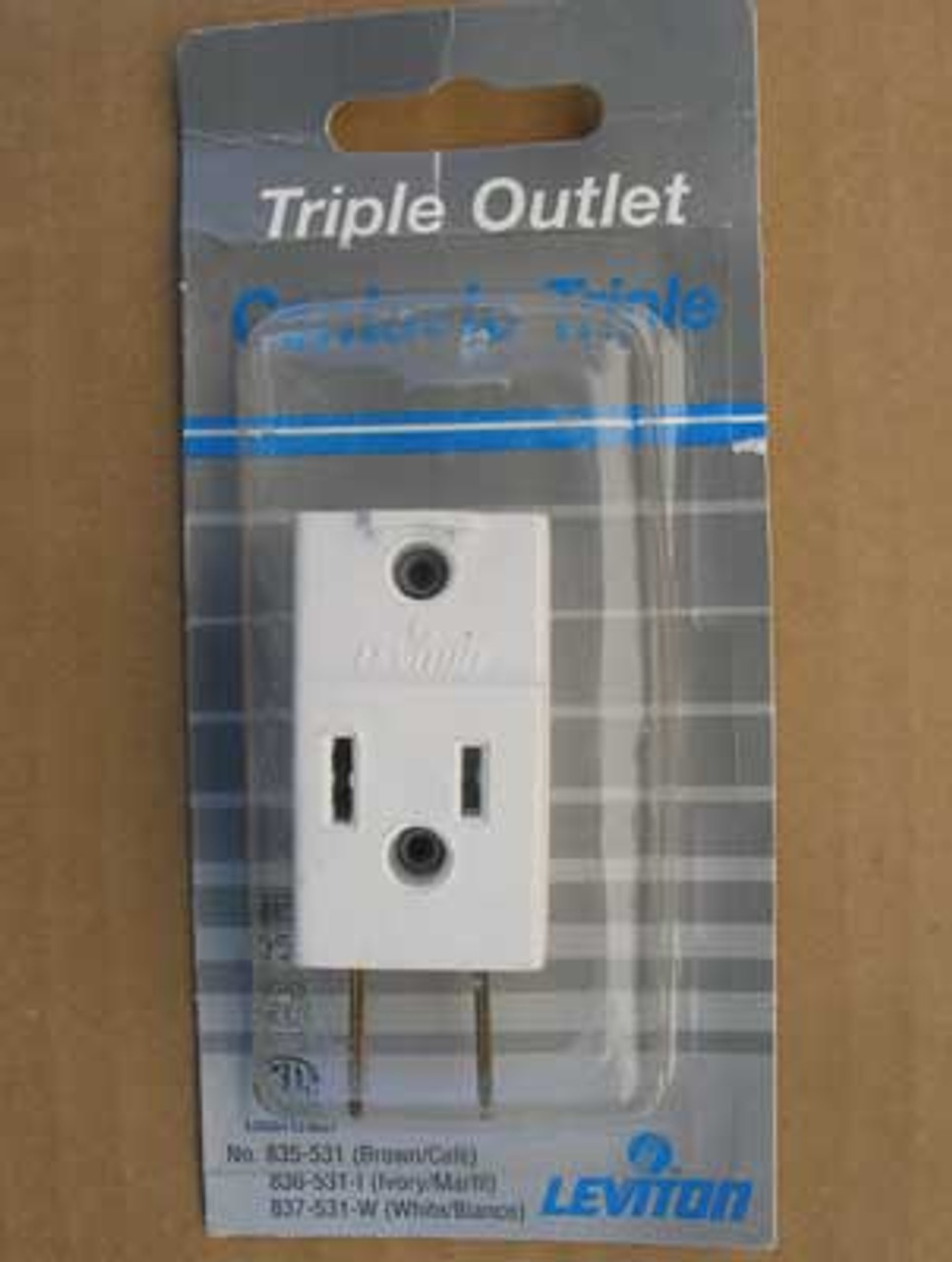 Leviton #837-531-W  Plug In Triple Outlet White (Lot of 5)