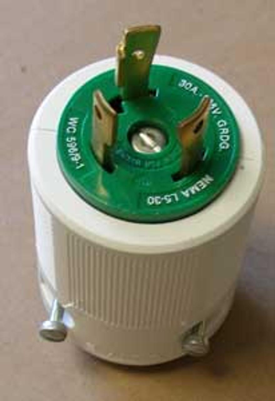 Leviton 70530-P 2 Pole, 30 Amp, 125 Volt, Nylon Locking Plug