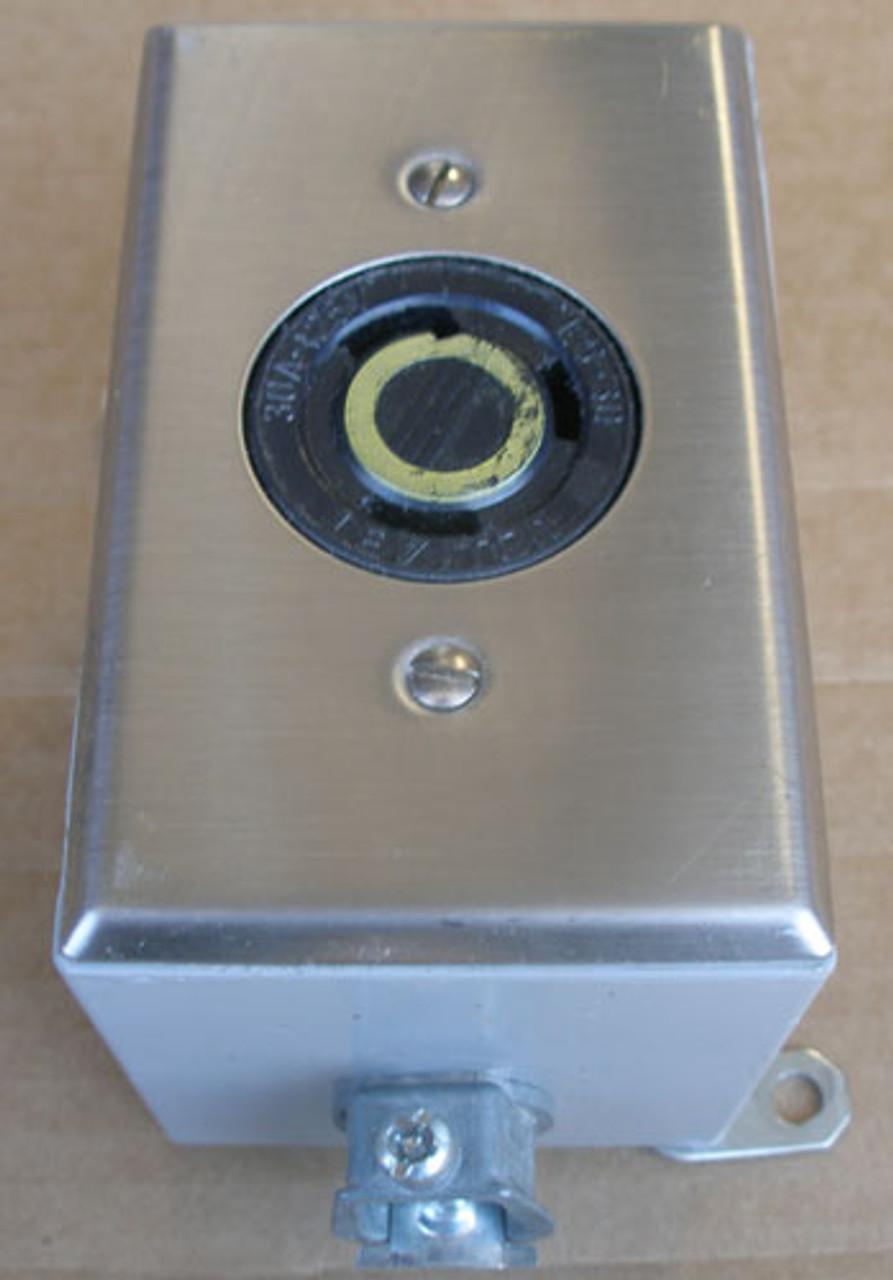 Leviton L5-30 30A 125V Industrial Grade Locking Plug Receptacle - Used