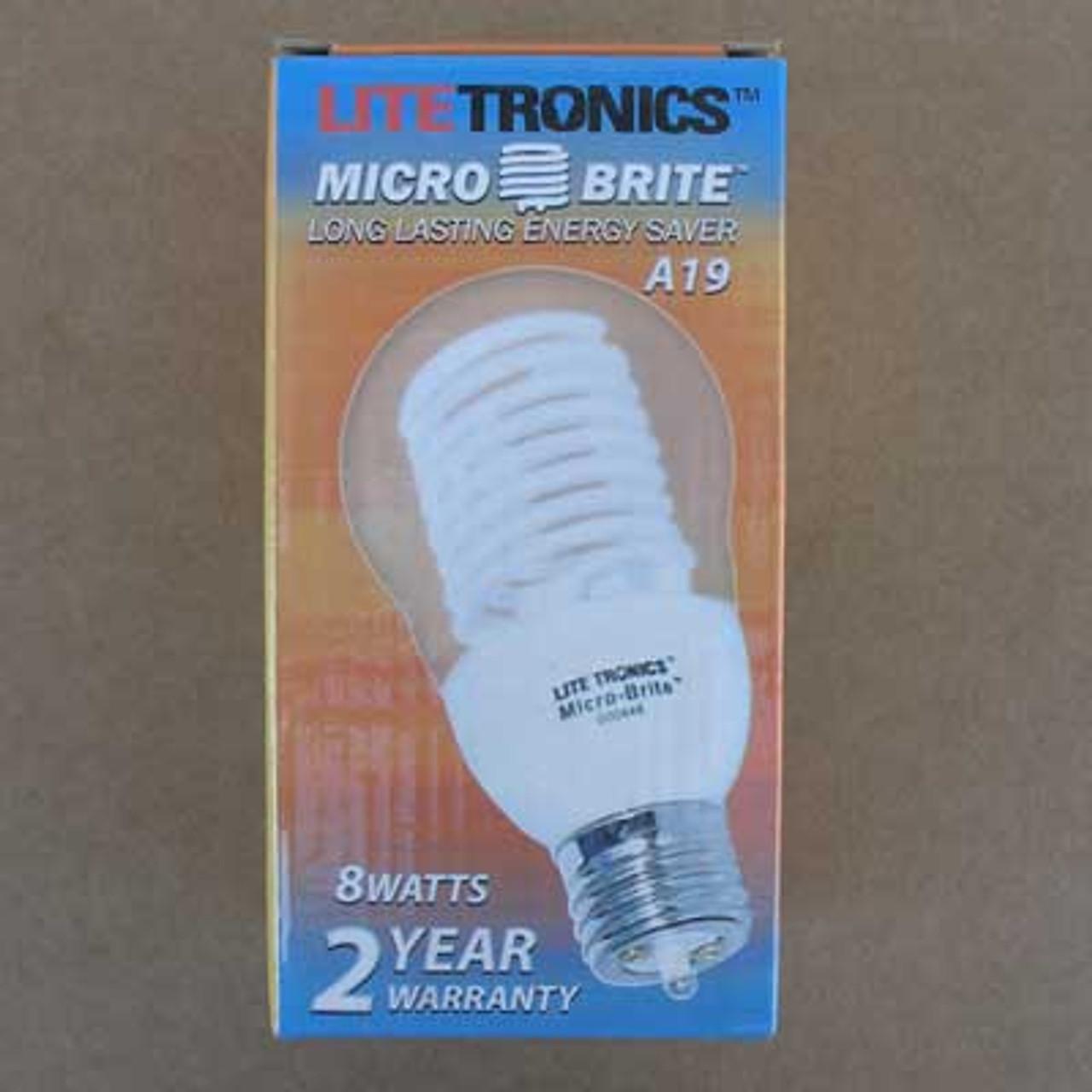 Litetronics MB-801DP 8W 110-130V Pure White Bulb - New