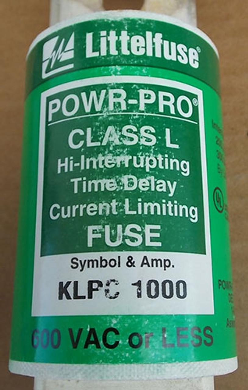 Littelfuse POWR-PRO KLPC 1000A 600V Class L Hi-Interrupting Time Delay Fuse