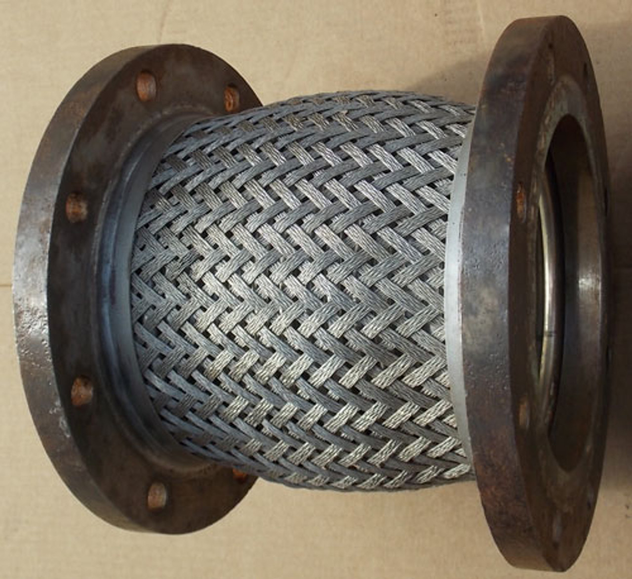"""FH82150 Flexible 8"""" Metal Braided Stainless Steel Pump Connector, Lot of 2 - Used"""