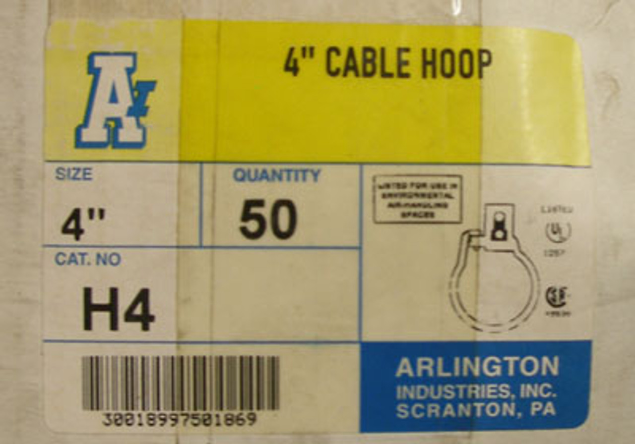"""Arlington Industries 4"""" Cable Hoops Cat. H4 (Lot of 50)"""