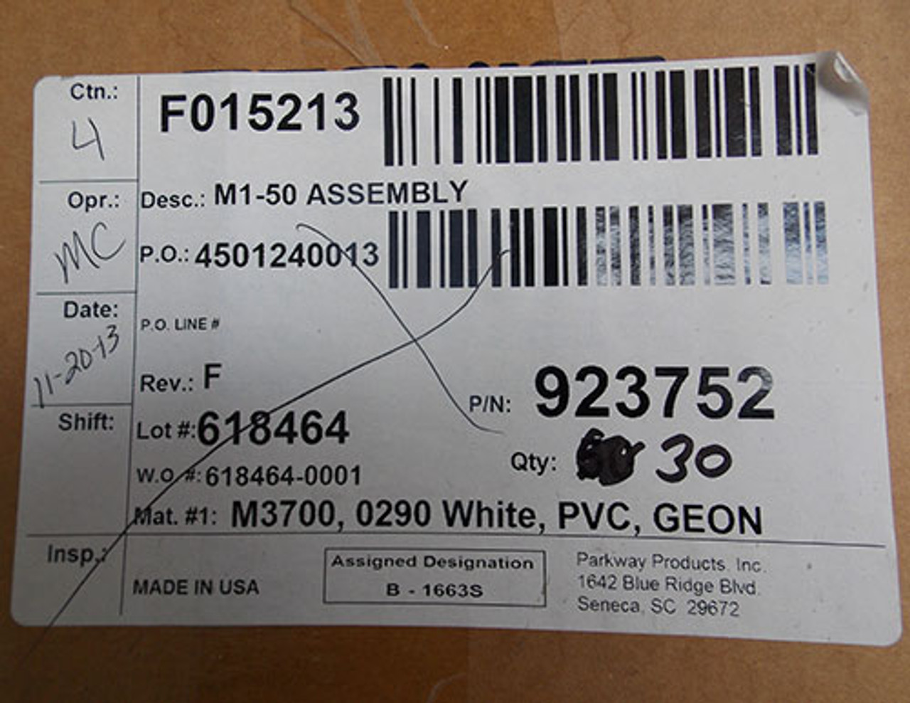 Marconi F015213 R66 M1-50 Cat5 Assembly M3700 0290 White PVC GEON - New