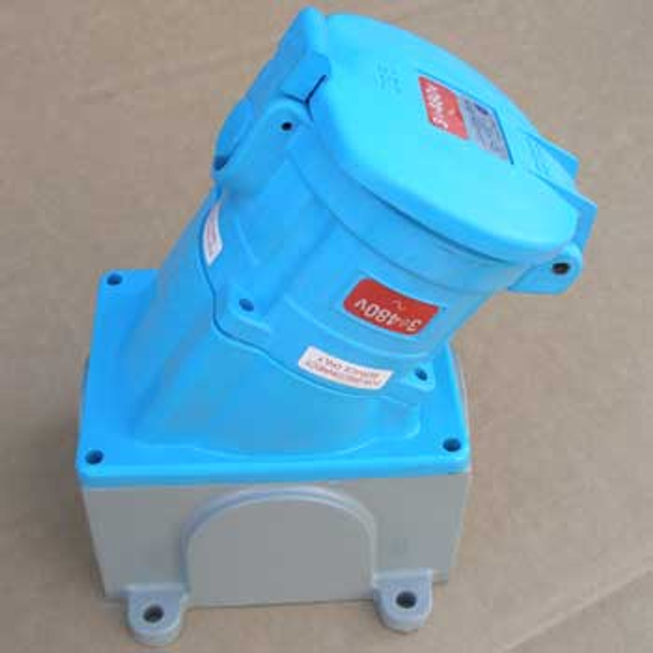 Meltric 31-60243-080 Receptacle/Angle Adapter/Metal Box 480V - New
