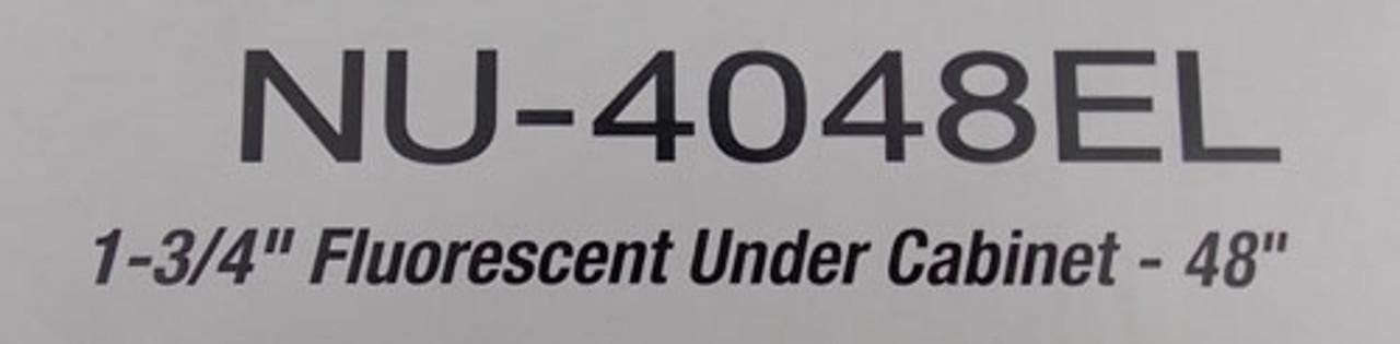 """Nora Lighting NU-4048EL 1-3/4"""" Fluorescent Under Cabinet Fixture 48"""" - New"""