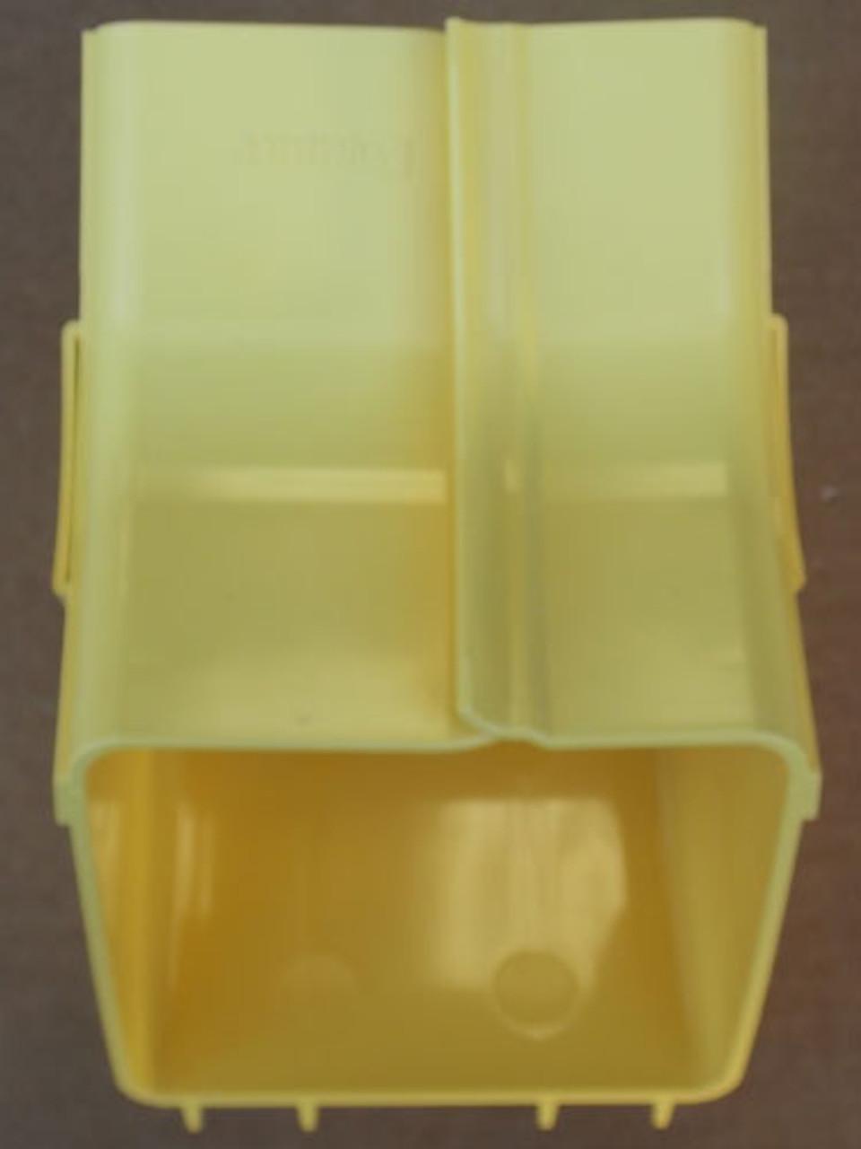 "Panduit FRIV454X4YL 4"" Inside Vertical 45 Degree Fitting Base & Cover"