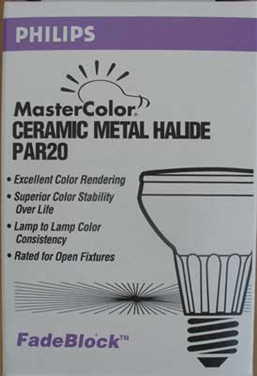 Philips 211524 Master Color Ceramic Metal Halide PAR20 20 Watt (Lot of 2)