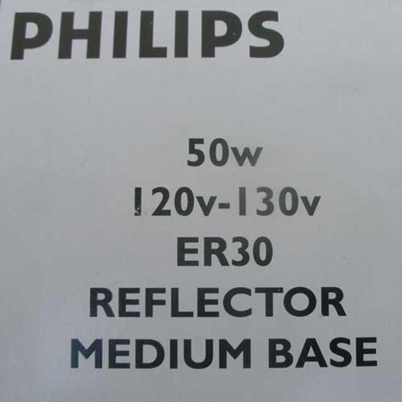Philips ER30 50W 120V-130V Medium Base Reflector Flood Lamp (Lot of 3) - New