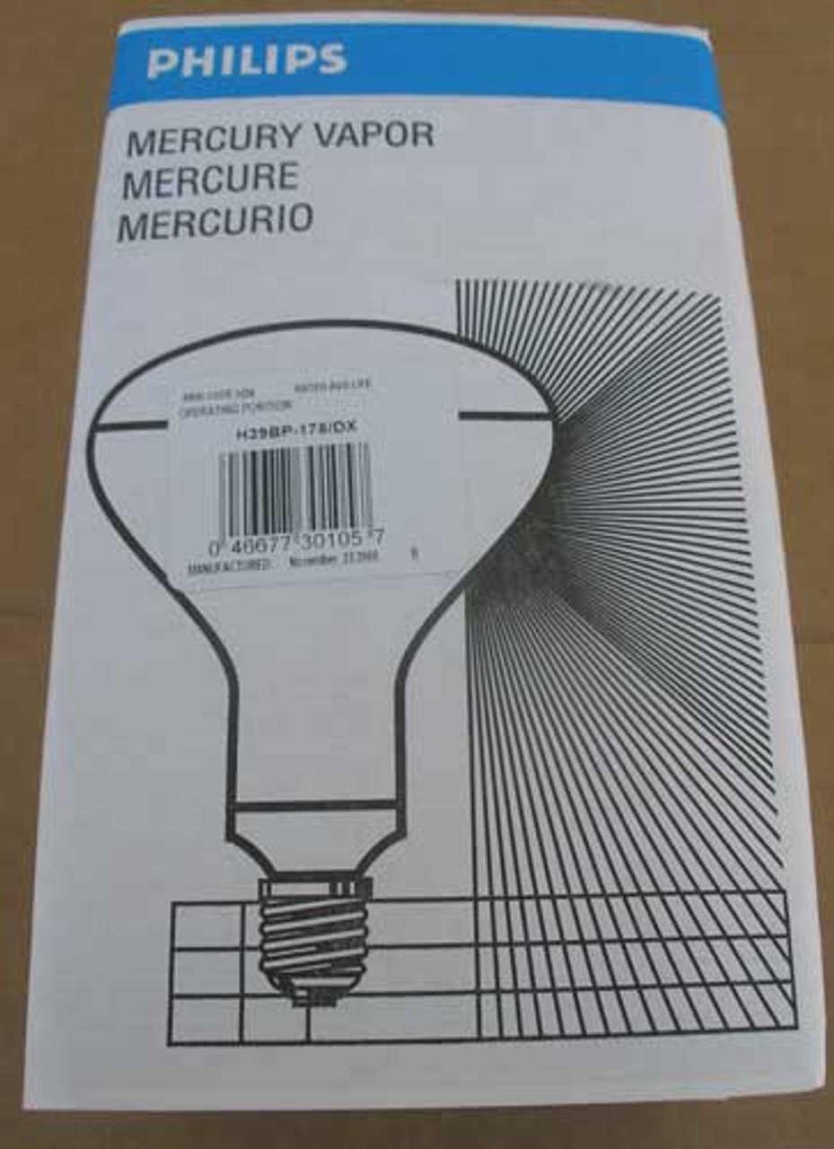 Philips H39BP-175/DX 175W  R40 Mercury Vapor Bulb