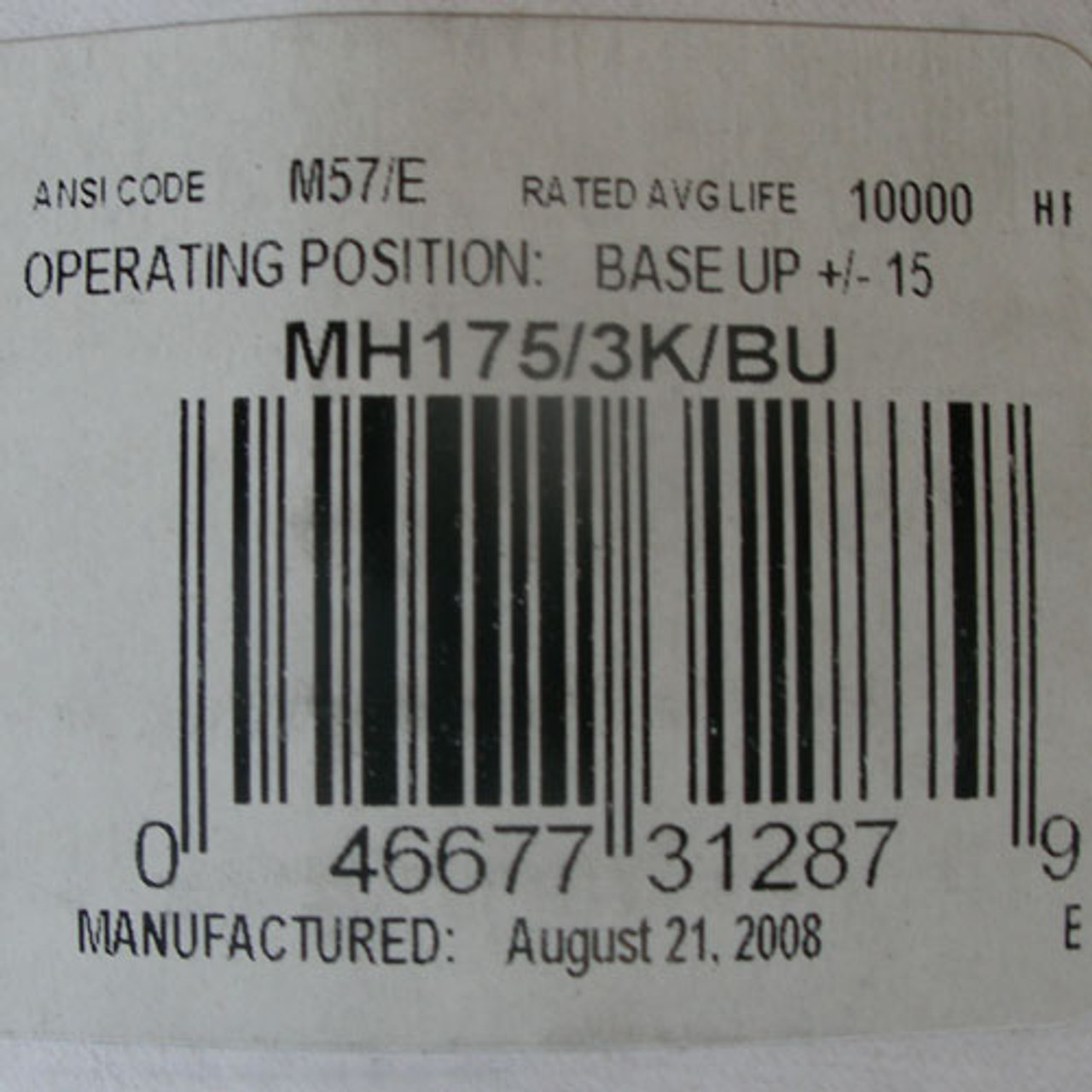 Philips MH175/3K/BU 175 Watt Metal Halide Light Bulb