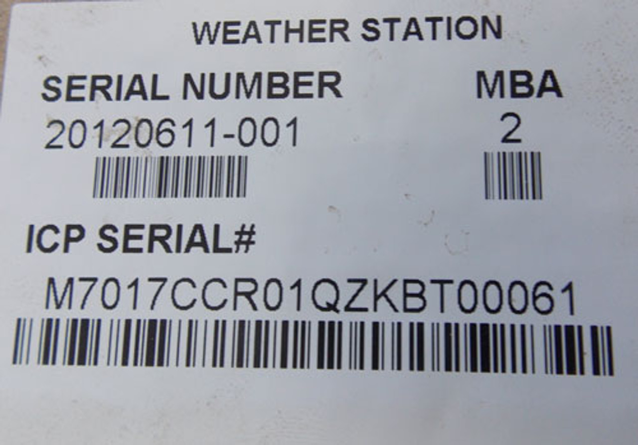 Power-One MBA 2 Weather Station 20120611-001 - New