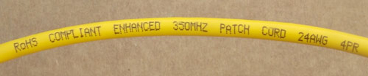 Quiktron 551-115-030 Yellow CAT 5E, CM Booted Patch Cord 4PR 24AWG 30' - New