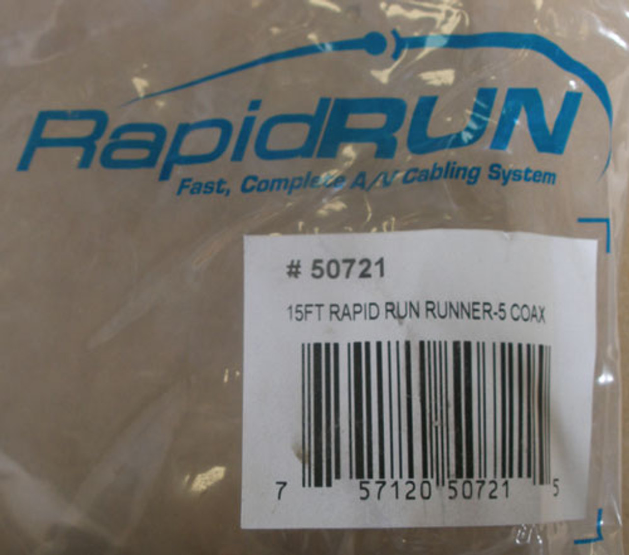 RapidRun Digital 50721 15ft CL2-Rated Multimedia Runner Cable 5 Coax - New