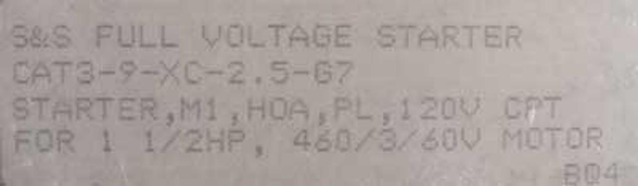 Rockwell S&S 3-9-XC-2.5-G7 Full Voltage Starter 120V - Used