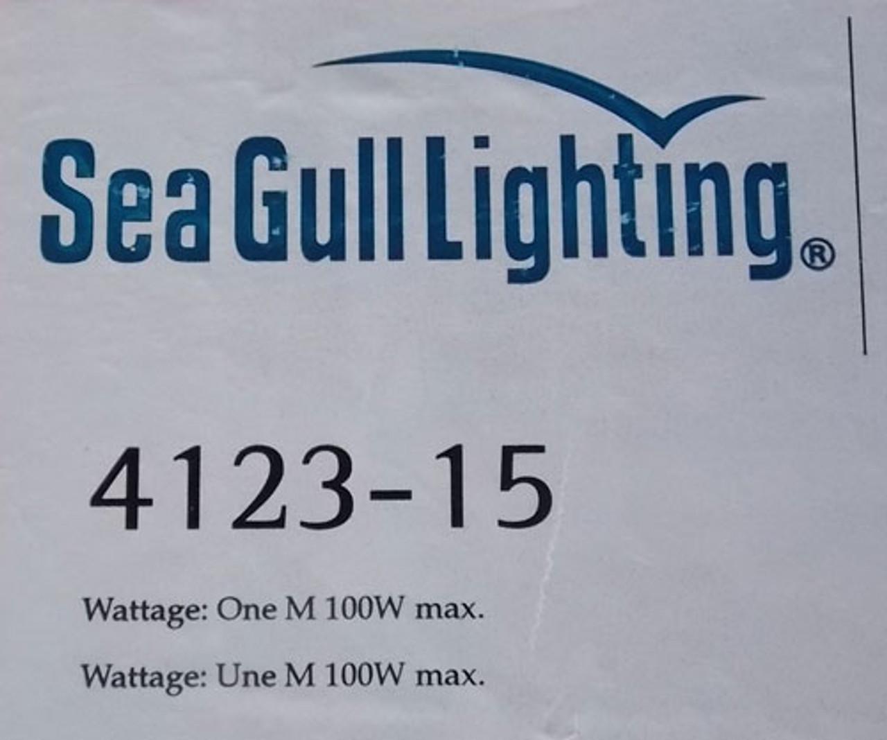 Sea Gull Lighting 4123-15 120V One-Light Decorative Wall Sconce White