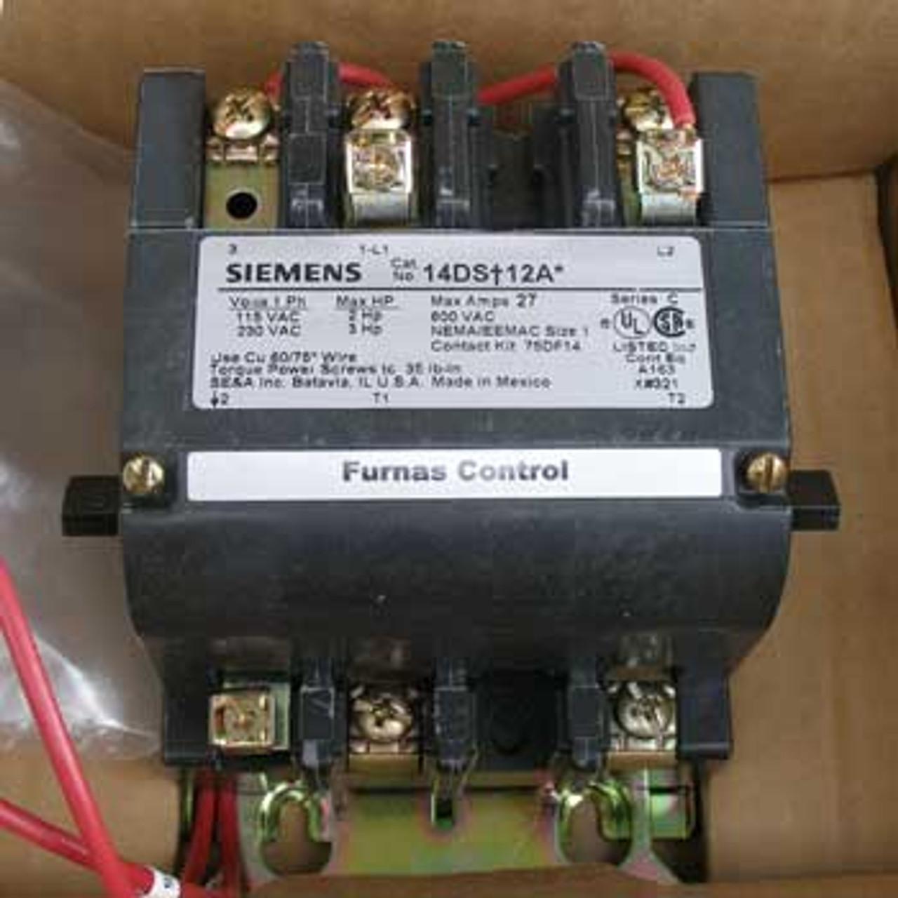 Siemens 14DS+12AA Size 1 Starter 115VAC 2HP Open - New