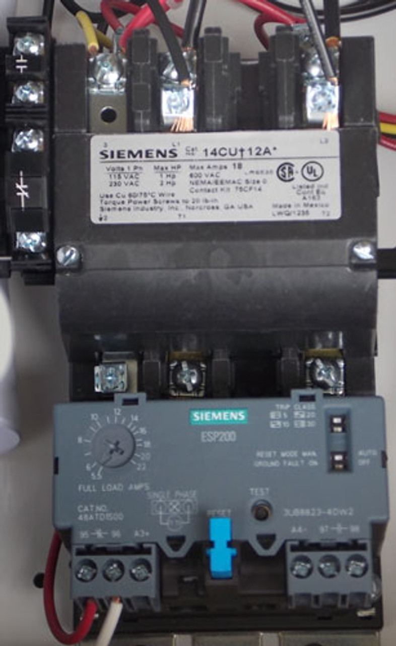 Siemens 17CUD92NJ10 Size 0 Fusible Combo Starter 3PH 30A 240V N12/3R