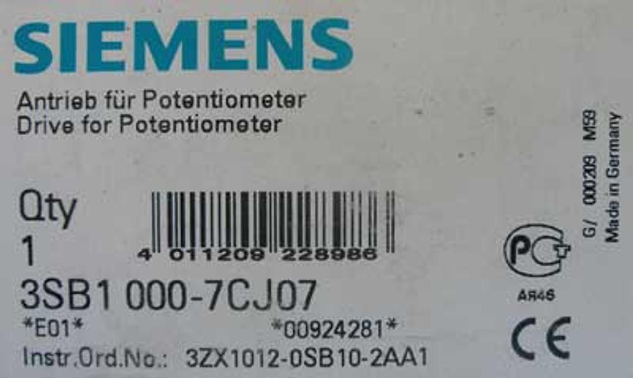 Siemens 3SB1000-7CJ07 Drive For Potentiometer