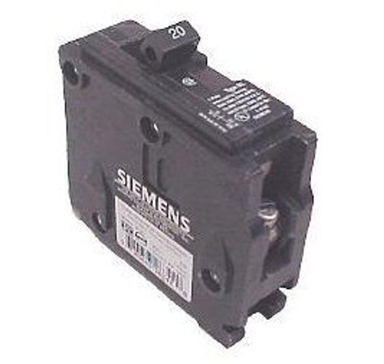 Siemens B120 1 Pole 20 Amp 120VAC Type BL Circuit Breaker - Used