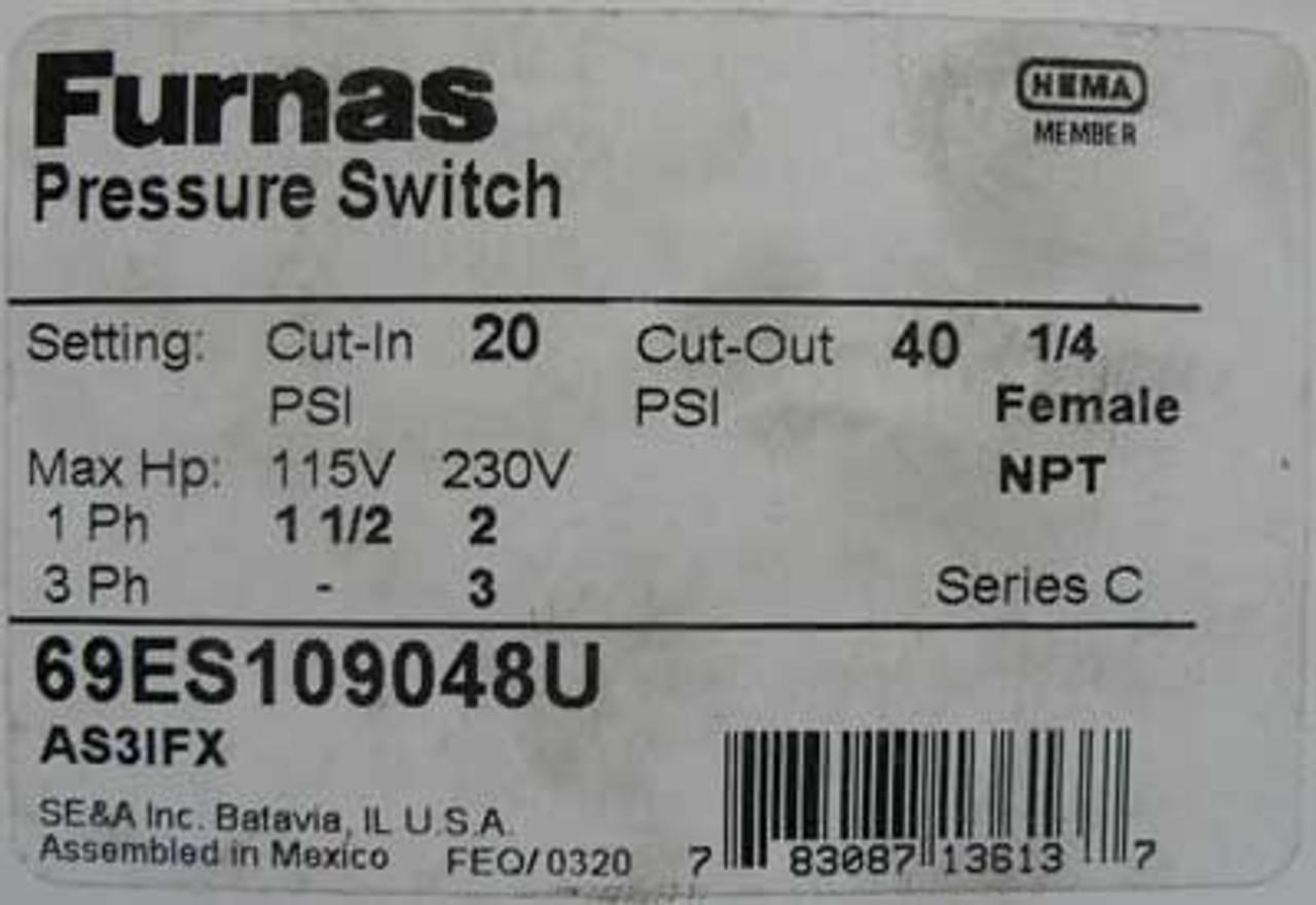 Siemens Furnas 69ES109048U Pressure Switch 230V