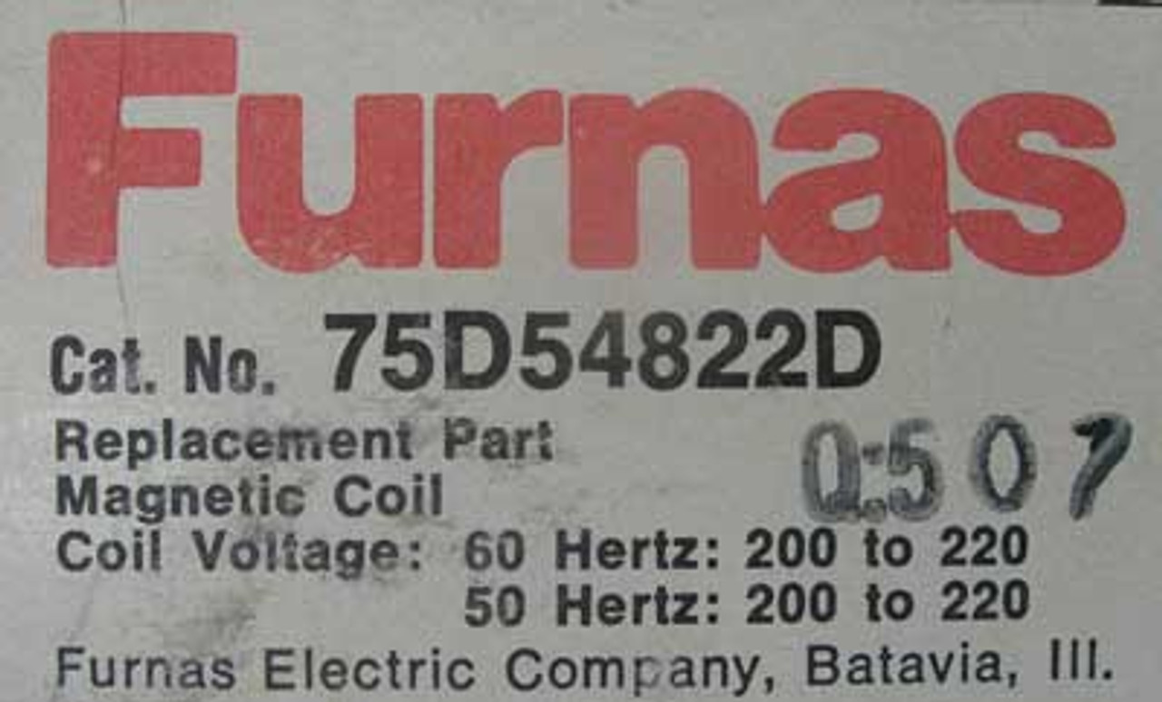 Siemens Furnas 75D54822D Magnetic Coil 200 to 220V 60HZ