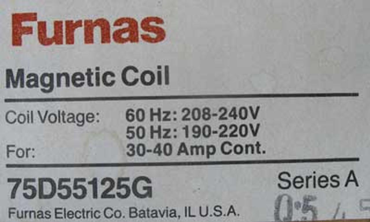 Siemens Furnas 75D55125G Magnetic Coil 240V 60HZ