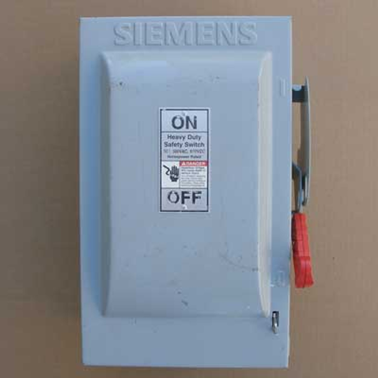 Siemens HNF262 HD Non-Fusible Safety Switch 60A 600V Nema 1 - Used