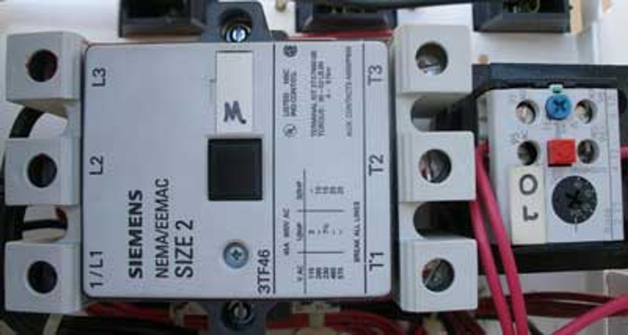 Siemens MCS606L MOD 95 MCC Bucket Size 2 w/ 3TF46 Starter - Used