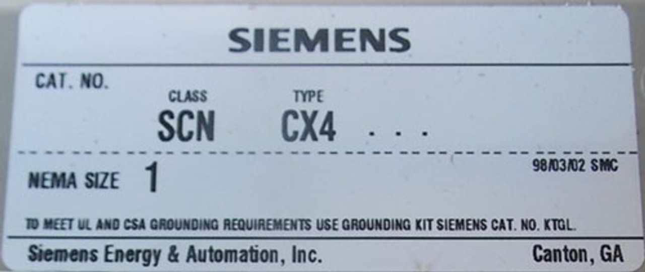 Siemens SCN CX4 Size 1 Combination Starter 3Ph 120V Coil - New - CALL FOR QUOTE