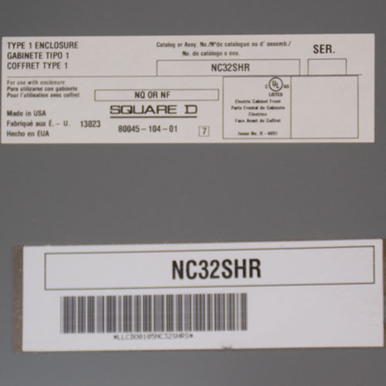 Square D 125A MLO 120/240V 1 Phase 3 Wire 30 SP NQ Panelboard N1 - New
