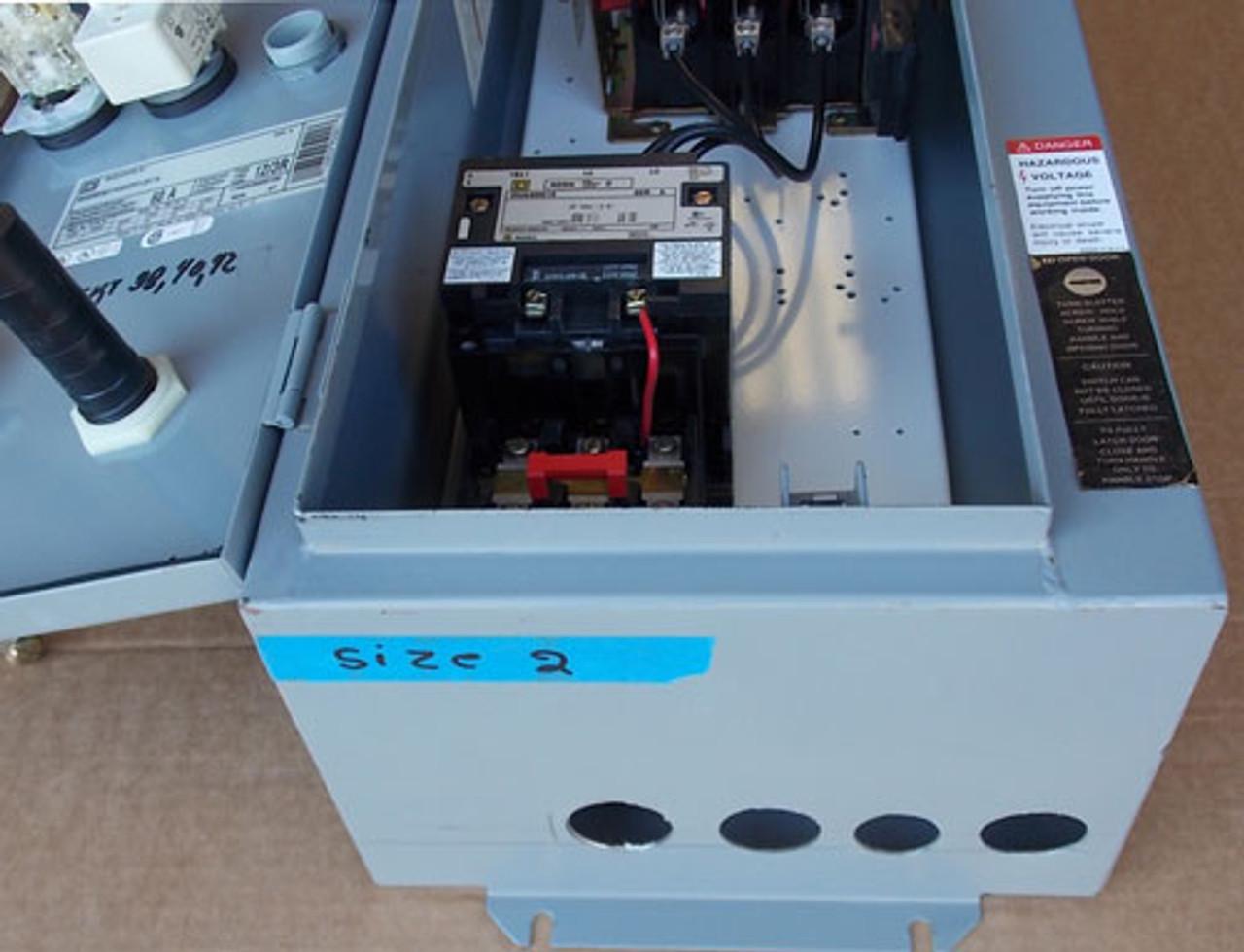 Square D 8538-SDA21V02 Size 2 Combo Motor Starter 3PH 60A 120V N3R/12