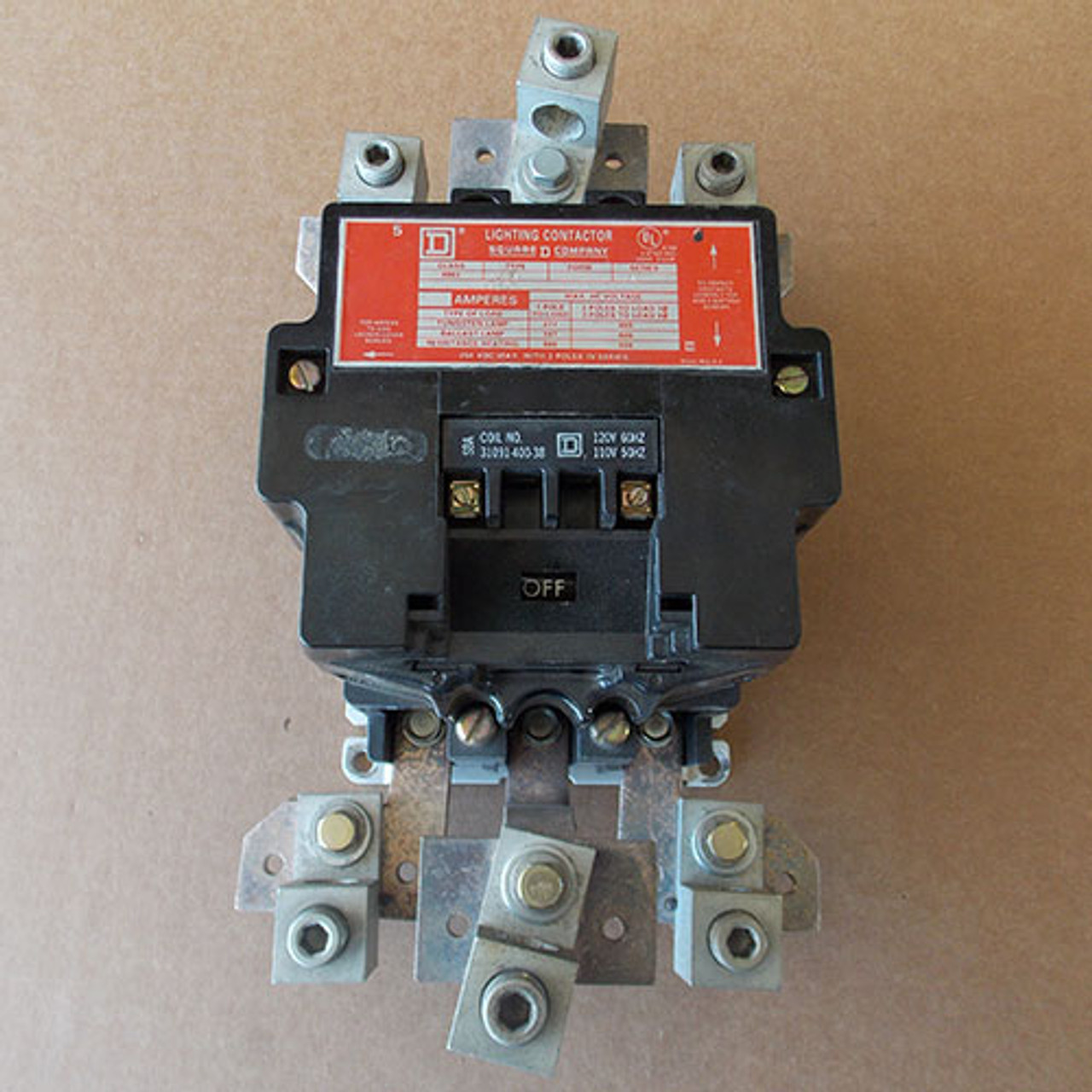 Square D 8903 S003 Magnetic Contactor 200 Amp 3 Pole 120 Volt Coil - Used