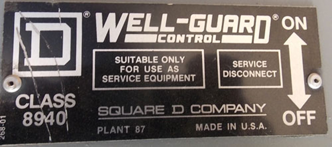 Square D 8940-NSE4075 3P 200A 600V Wellguard AC Pump Control Panel N3R - Reconditioned