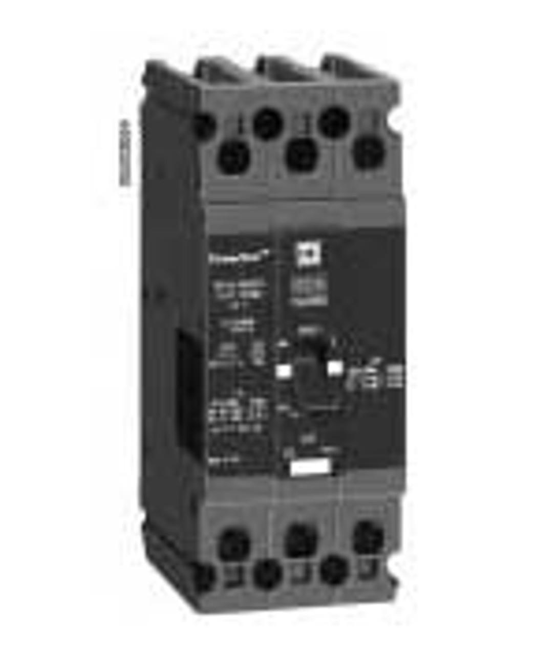 Square D FDA34020 3 Pole 20 Amp 480 VAC MC Circuit Breaker - Used