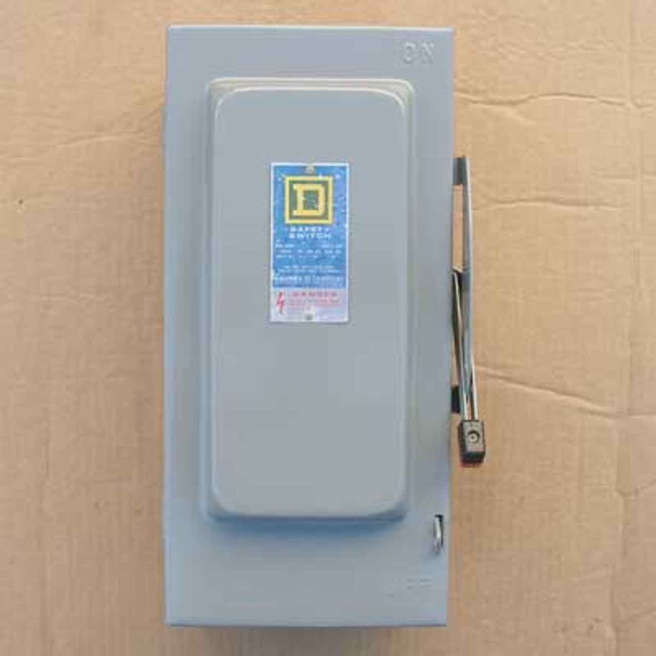 Square D H322-N 60 Amp 240VAC Fusible Safety Switch Nema 1 - Used Reconditioned