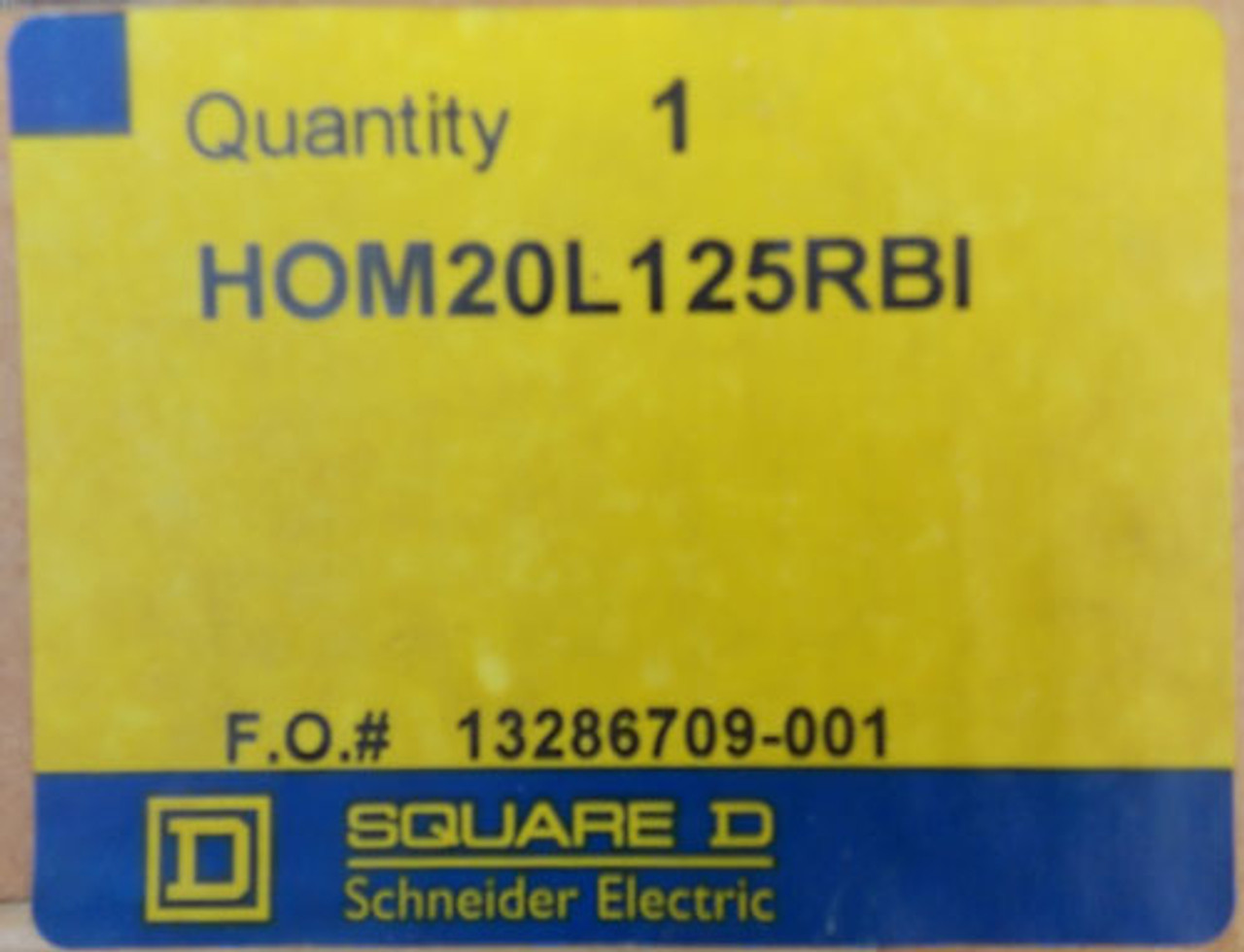 Square D HOM20L125RBI 125A 240V 1Ph 20 Space Interior Only - New