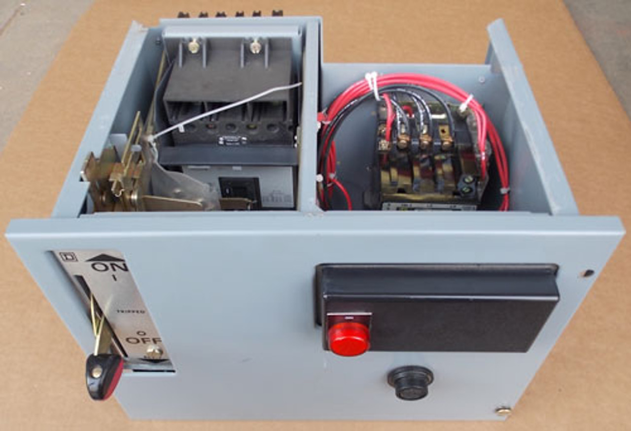 Square D Model 5 Size 1 Motor Control Center Bucket 480V 3PH 15A - Used