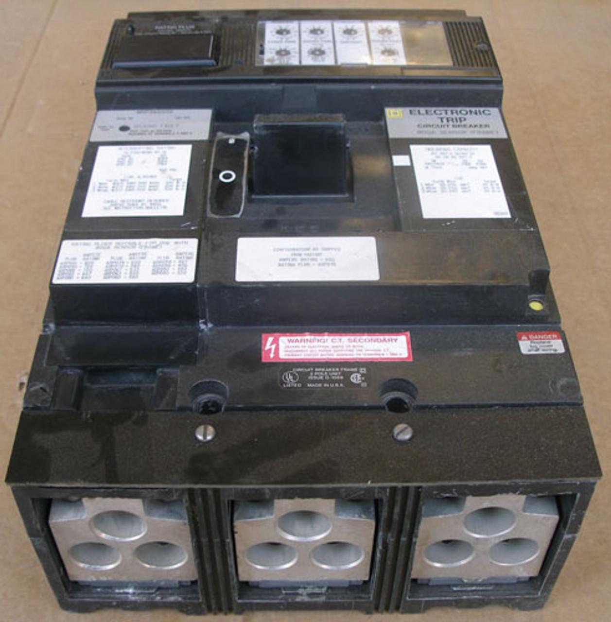 Square D MXP36600G 600A 600V 3P 3Ph Series 5B Circuit Breaker - Used
