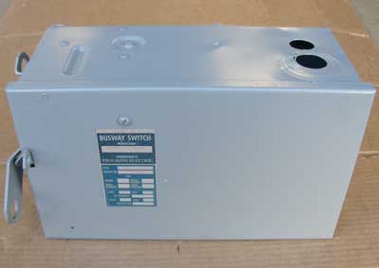 Square D PQ3603U 3 Phase 30 Amp 600VAC Fusible I-Line Busway Switch - Reconditioned