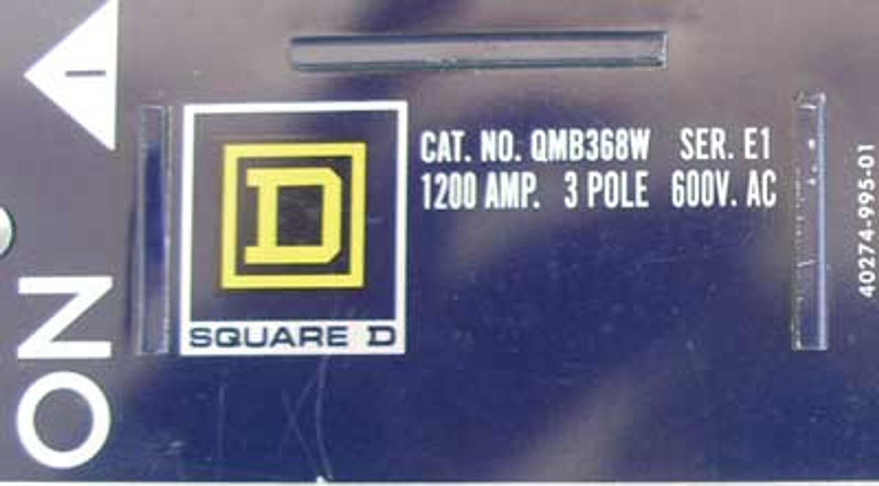 Square D QMB368W 3 Pole 1200 Amps 600VAC Single E1 Panelboard Switch - Used