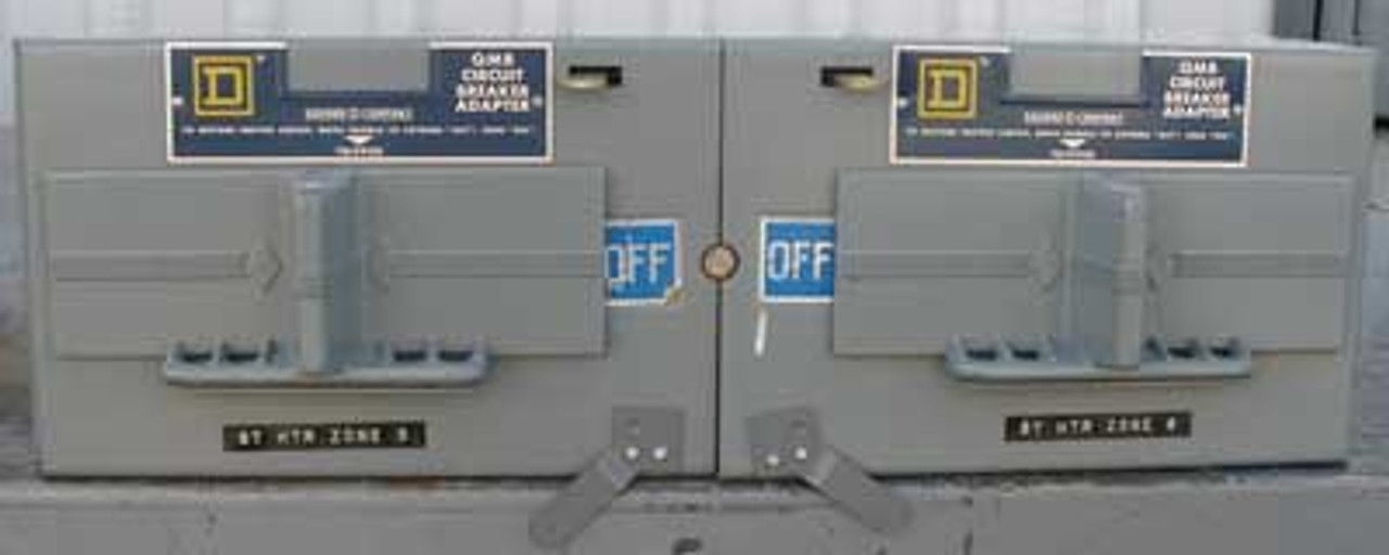 Square D QMB-FA-3T 100A 600V Circuit Breaker Adaptor-20 & 30A Breakers - Used